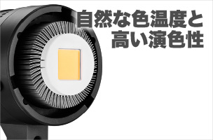 EFII-60 JINBEI 60W LEDライト本体(デイライト) 自然な色温度と高い演色性