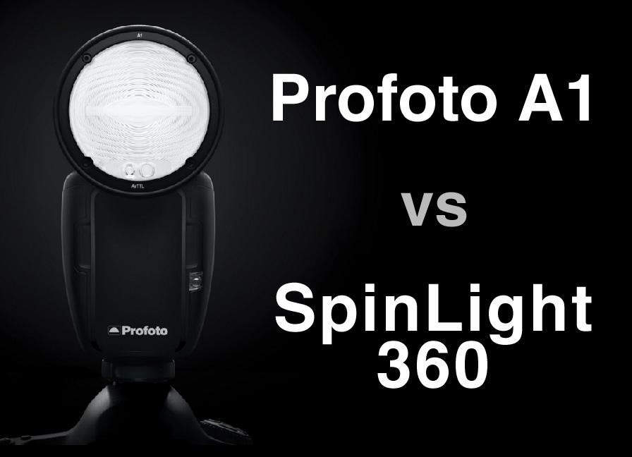 Profoto A1 アクセサリー vs スピンライト360