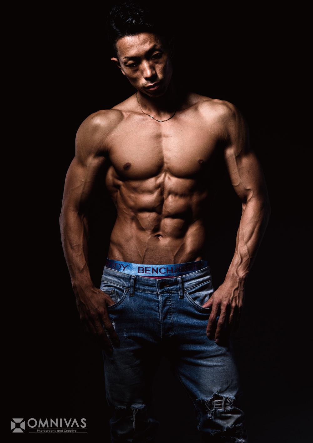 フィジーク選手の肉体美
