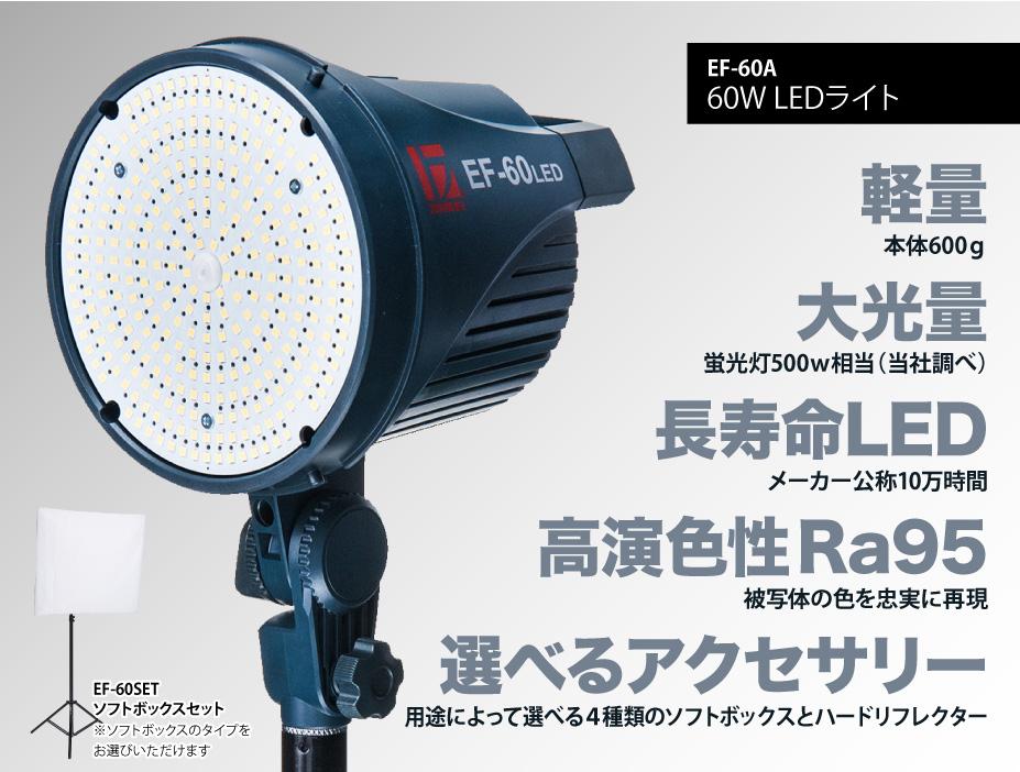 商品撮影、料理撮影、人物撮影には明るい撮影用LEDライト