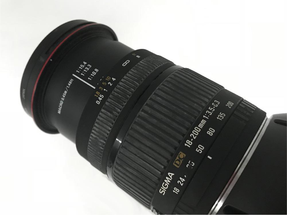 レンズはSIGMAの18-200mm、開放f3.5、50mmくらいで投影。